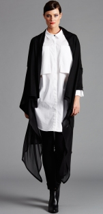 2218.3053 SHEER LAYER CARDI 2216.1637 PATCH POCKET SHIRT N1764.1658 PONTI PANT