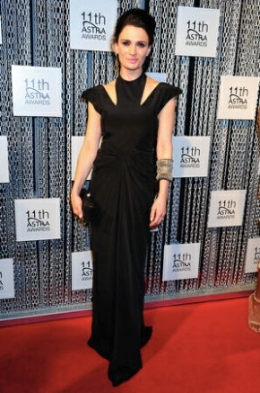 Danielle Cormack on the red carpet