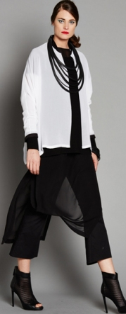 E2182.1800 SHEER SHIRT E2178.964BLK SHEER SLEEVE TEE 2129.1800 LONG TAB TUNIC 1418C.949BLK CROP BOOTLEG